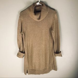H by Halston camel brown turtleneck sweater S